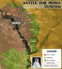 I 35 Map Battle For Mosul 23 10 2016 Map Syriancivilwar