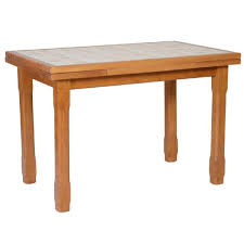 table de cuisine table cuisine carrelée 110 x 70 2 allonges achat vente table