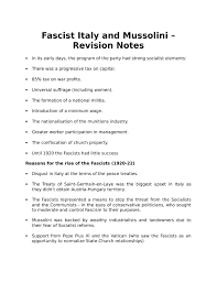 fascist italy and mussolini worksheet history