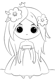 cute chibi princess coloring free printable coloring pages