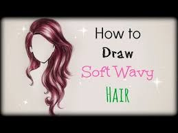 drawing tutorial draw color soft wavy hair front