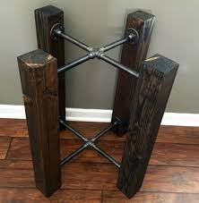 100 Diy Pipe Desk Plans Pipe Table Ideas And Inspiration by This Is A Beautiful Ebony Black Stained Solid Wood Beam And Iron