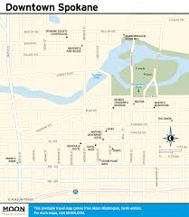 Spokane Usa Map by Printable Travel Maps Of Washington State Moon Travel Guides