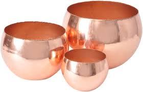 copper merle votive bowl medium secret messages interiors