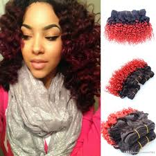 Two Tone Ombre Hair Extensions by Cheap Wholesale Vip Red Brazilian Curly Ombre Hair Extensions