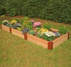 Raised Garden Beds Kits Frame It All Two Inch Series Modular Cedar Raised Garden Bed