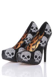 Skull High Heels Iron Fist Digi Skull Black White Heels Impericon Com Worldwide