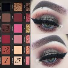 henna eye makeup huda beauty gold textured eyeshadow palette makeup