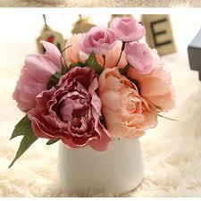 Peony Floral Arrangement by Online Get Cheap Silk Peony Flower Arrangement Aliexpress Com