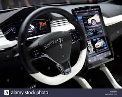tesla inside las vegas nevada usa 06th jan 2015 a view of the steering
