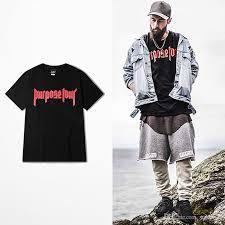 justin bieber purpose tour t shirt cross print t shirts