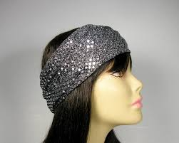 sequin headbands silver sequined wrap bling wrap sequined wrap