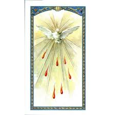 holy spirit laminated prayer card the catholic company