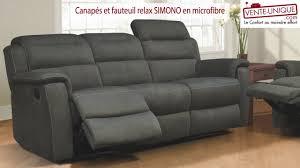 canapes et fauteuils canapés et fauteuils relax en microfibre simono
