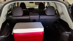 nissan rogue seat covers 2016 nissan rogue suv checking cargo space with 2nd row of seats