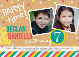 twins boy or photo birthday invite shutterfly custom