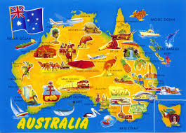 world come to my home 0875 australia the map and the flag of