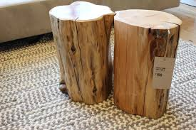 silver barrel side table furniture surprising diy wood trunk coffee table tree side silver