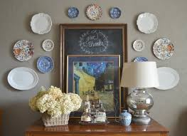 ever wondered how to hang plates on a wall without those awful