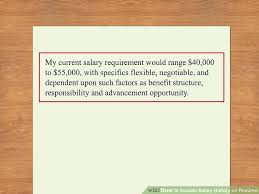 Salary Requirements In Resume Example Sample Resume With Salary History Resume Salary History Sat Tutor