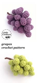no crocheted fruit bowl would be complete without a bunch of