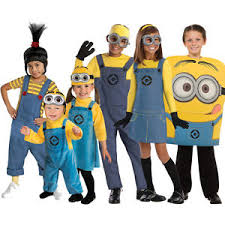 Minion Halloween Costume Girls Kids Official Despicable Minion Fancy Dress Costume