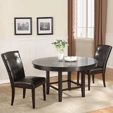 3 Pc Kitchen Table Sets modus bossa 3 piece 54 inch round dining table set with black
