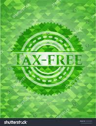 taxfree green emblem mosaic background stock vector 723455695