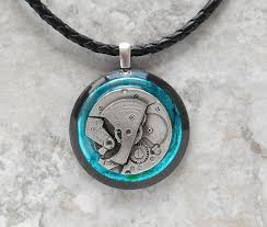 mens necklace images Watch gear necklace blue mens necklace from naturewithyou on jpg