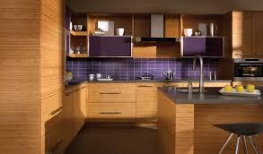 bamboo kitchen island decor bamboo kitchen cabinets and purple tile backsplash with