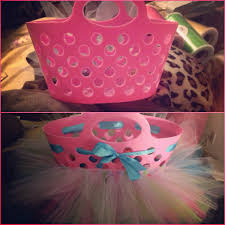 tutu tulle easter basket dollar tree basket and tulle makes a