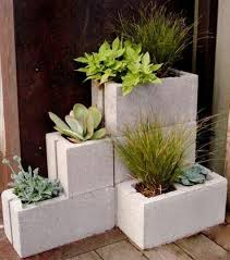 small box room ideas diy cinder block planter concrete block