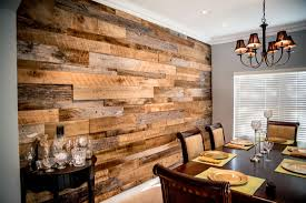 the hughes dining room reclaimed wood accent wall fama creations