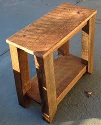 barnwood side table the coastal craftsman