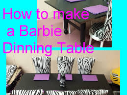 barbie dining room barbie how to make a dining table youtube