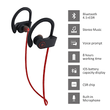 Discount Mpow Bluetooth Headphones Waterproof Ipx7 Wireless Earbuds Sport Richer Bass Hifi Stereo In Ear Earphones W Mic Case 7 9 Hrs For Running Workout Noise Cancelling Headsets Red Outside Amazon Com Bluetooth Headphones W Mic Wireless Noise Cancelling