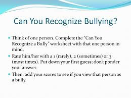 identifying and defining bullying ppt video online download