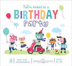 36 kids birthday invitation templates u2013 free sample example