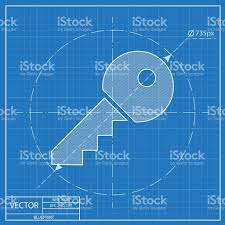 door key vector blueprint icon stock vector art 517851874 istock