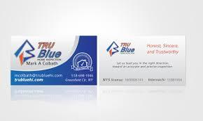 print design logo design web design branding solutions tru blue home inspection business cards