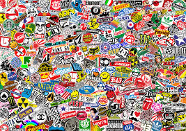 stickerbomb mural wall murals stickerbomb mural