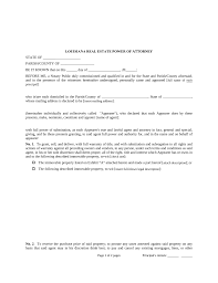 Sample Power Of Attorney For Property free louisiana real estate power of attorney form pdf eforms
