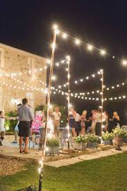 post to hang string lights how to hang string lights outdoors without trees outdoor designs