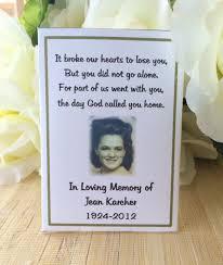 memorial service favors memorial gift memorial keepsake memorial favors memorial