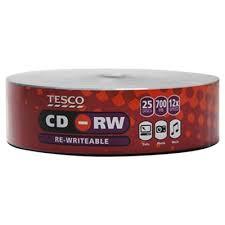 buy tesco cd rw 25 disc pack storage range tesco