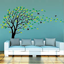 casefan 5 trees wall stickers forest mural paper for