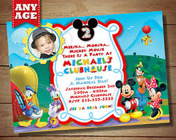 mickey mouse clubhouse 2nd birthday invitations image collections