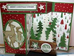 crafty maria u0027s stamping world z fold christmas tree farm
