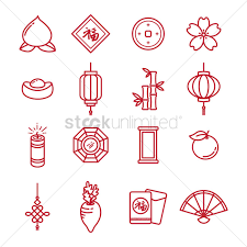 new year items collection of new year items vector image 1972834