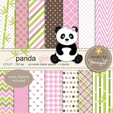 panda digital papers and clipart panda by jennyldesignsshop